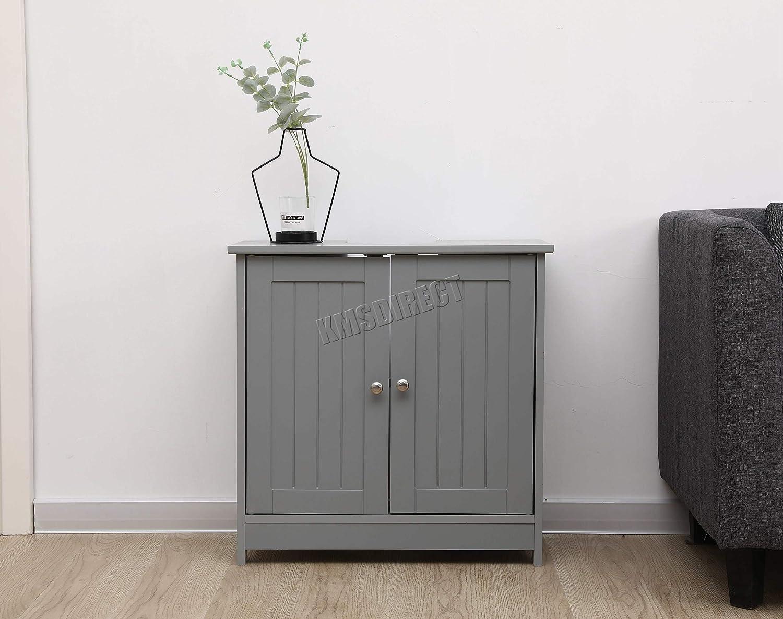 armadio armadietto mvc-01/grigio Westwood mobiletto in legno sotto il lavello lavandino da bagno