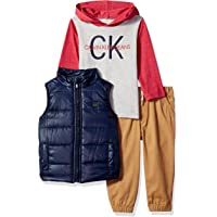 Calvin Klein Baby Boys 3 Pieces Vest Set-Hooded TEE