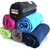 Quick Dry Microfiber Travel Towel - Ultra Compact Absorbent for Sports Beach Swim Gym Backpacking