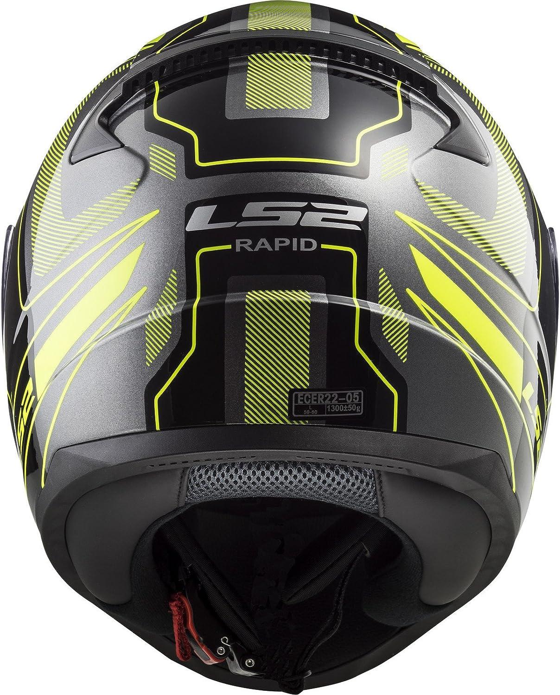 LS2 Motorradhelm RAPID Mat Gr/ö/ße XL Schwarz