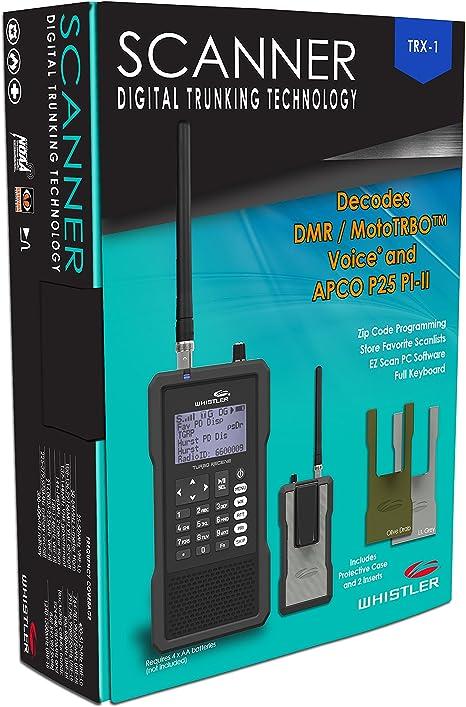 Whistler TRX-1 - Radio de escáner digital portátil