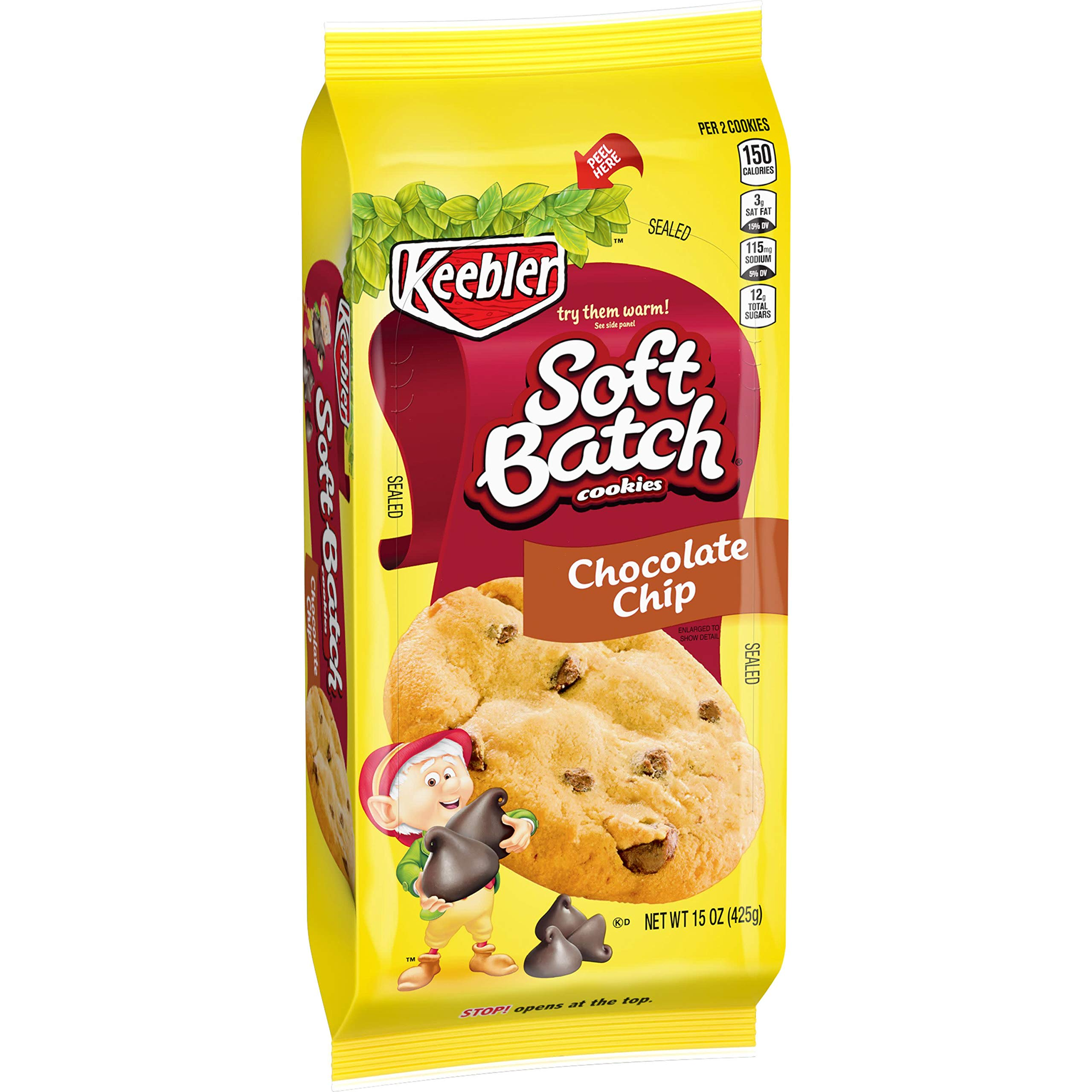KeeblerSoft Batch Cookies, Chocolate Chip, 15 ozTray(Pack of 12)