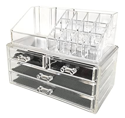 Amazoncom BiuTee Makeup Organizer 2 Pieces Cosmetic Storage Box