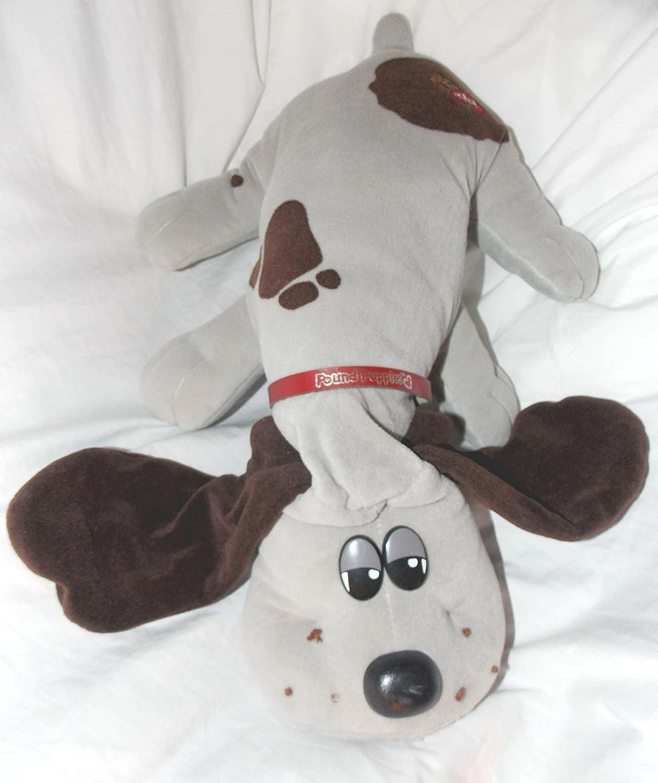 """Amazon Vintage Pound Puppies 17"""" Plush Gray Pound Puppy Dog"""