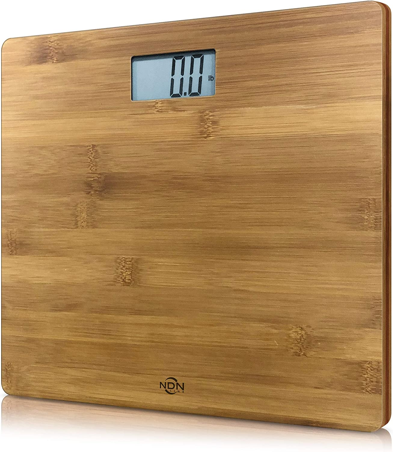 NDN LINE Bamboo Digital Body Weight Bathroom Scale | Feel the Natural Wood Difference