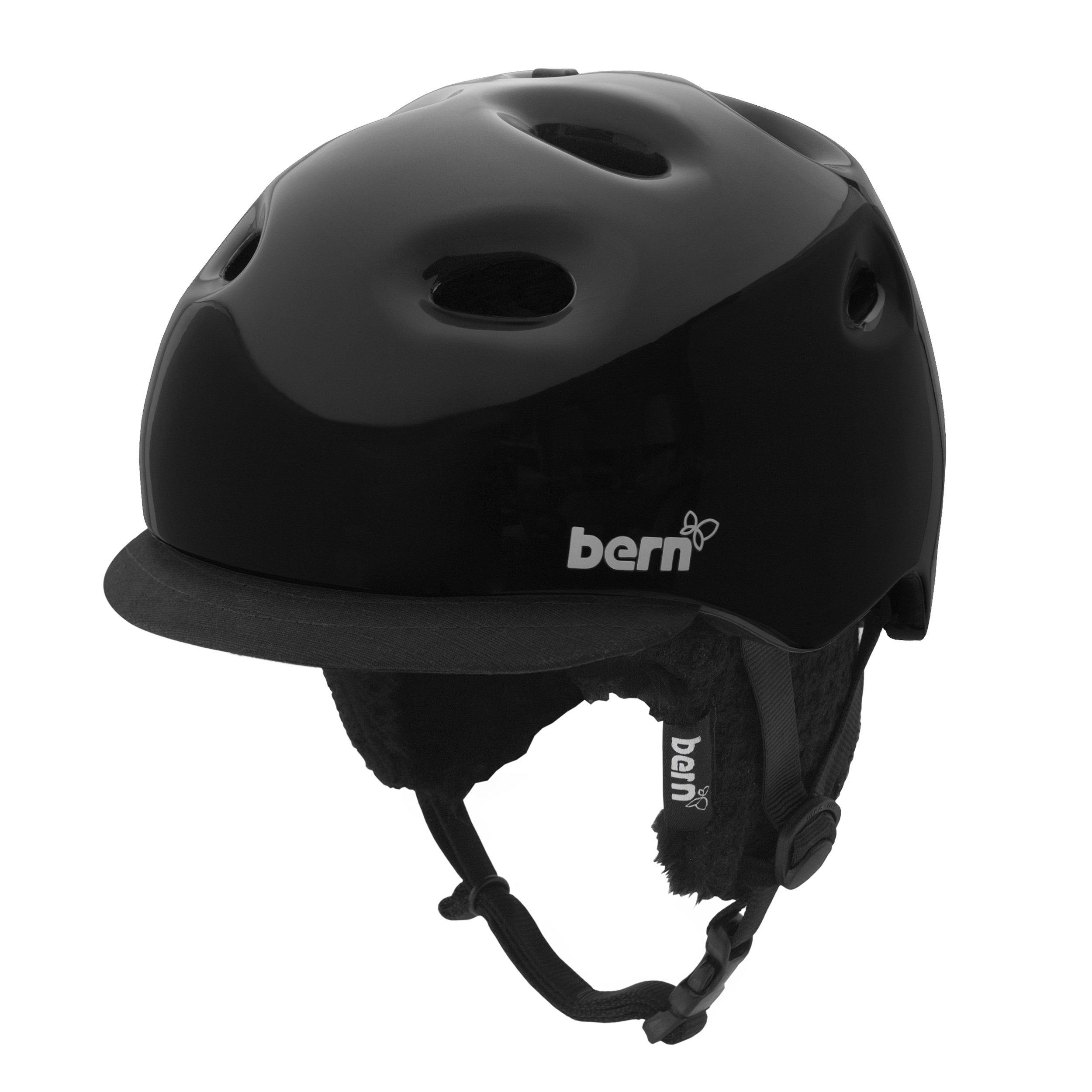 Bern Cougar 2 Tone Gloss Helmet with Black Knit (Black, Small/Medium)