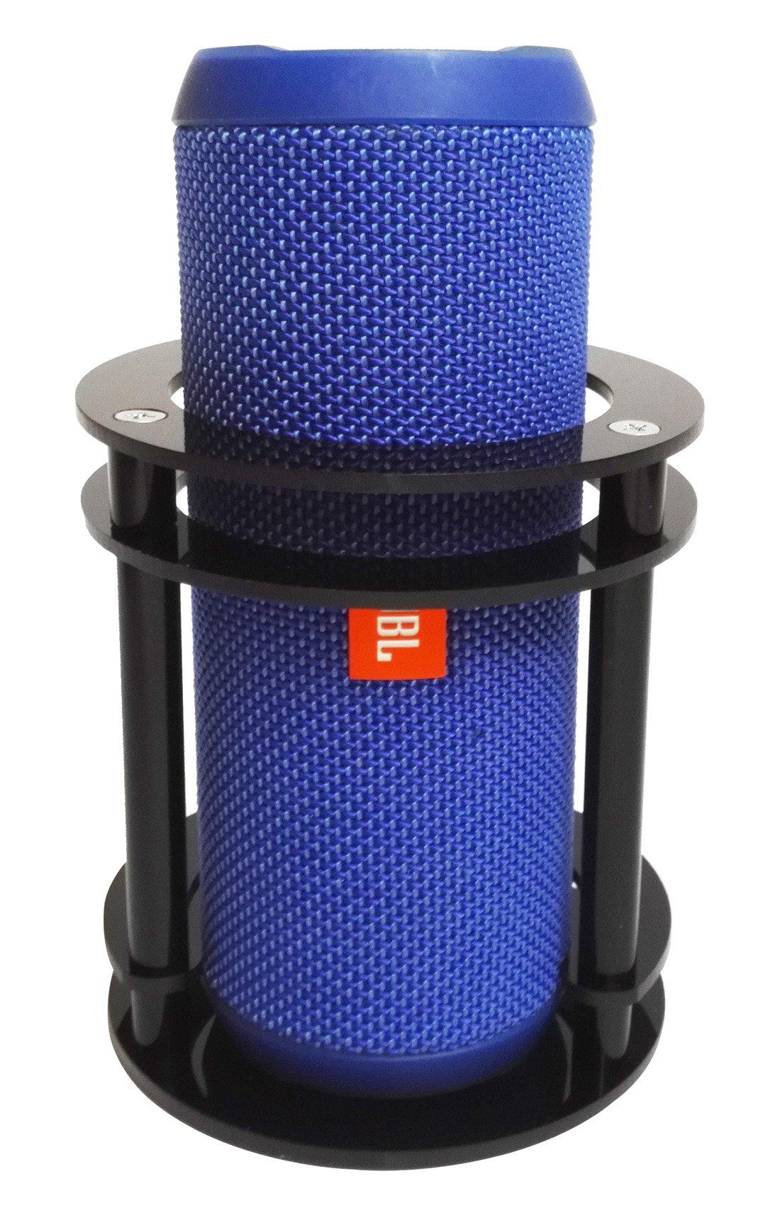 FitSand(TM Speaker Stand Holder Guard Station for JBL Flip 4/3 / 2/1 Splashproof Portable Bluetooth Speaker - Black
