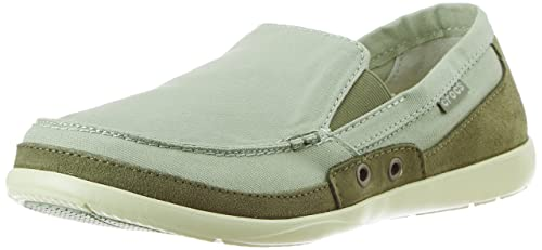 d16ea8044259 Crocs Men s Walu Accent Desert Sage and Deep Lichen Green Loafers and  Mocassins - M11