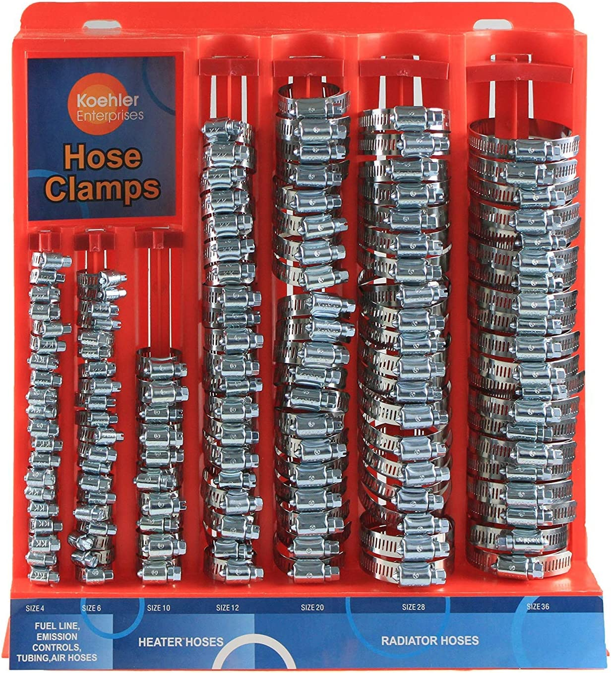 Large Hose Clamp Display Rack Hose Clamps Not Included