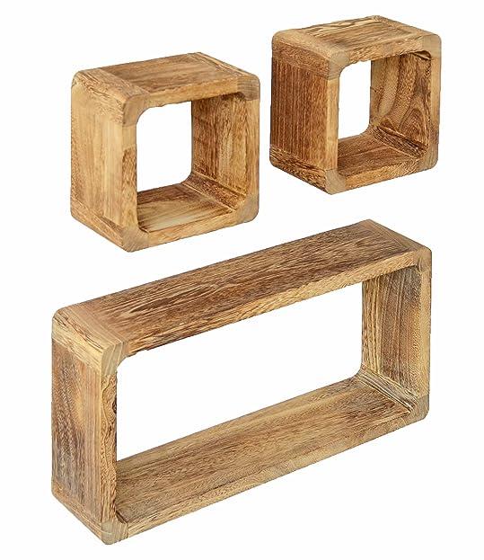 3er Set Lounge Cube Regal Landhaus Stil Wandregal Retro Hängeregal ...