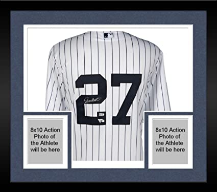 Image Unavailable. Image not available for. Color  Framed Giancarlo Stanton  New York Yankees Autographed Majestic White Replica Jersey ... 7274df3dbd2