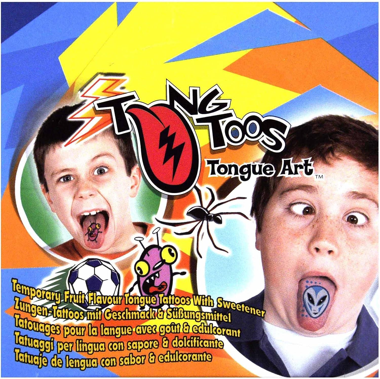 Tatuaje de lengua con sabor et edulcorante: Amazon.es: Juguetes y ...
