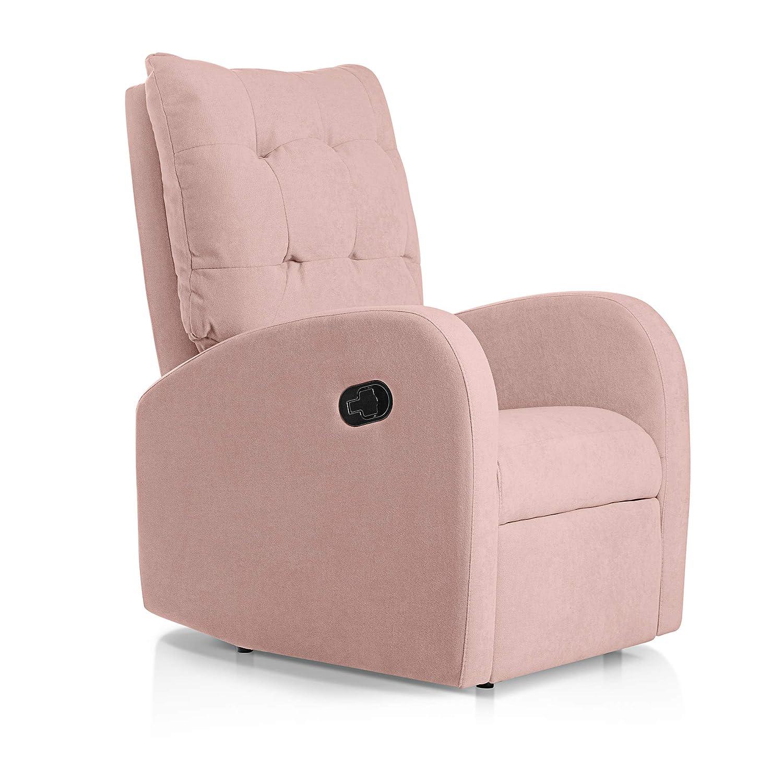 SUENOSZZZ-ESPECIALISTAS DEL DESCANSO Sillon Relax reclinable Soft tapizado Tela Antimanchas Color Salmon | Sillon reclinable butaca Relax | Sillon ...