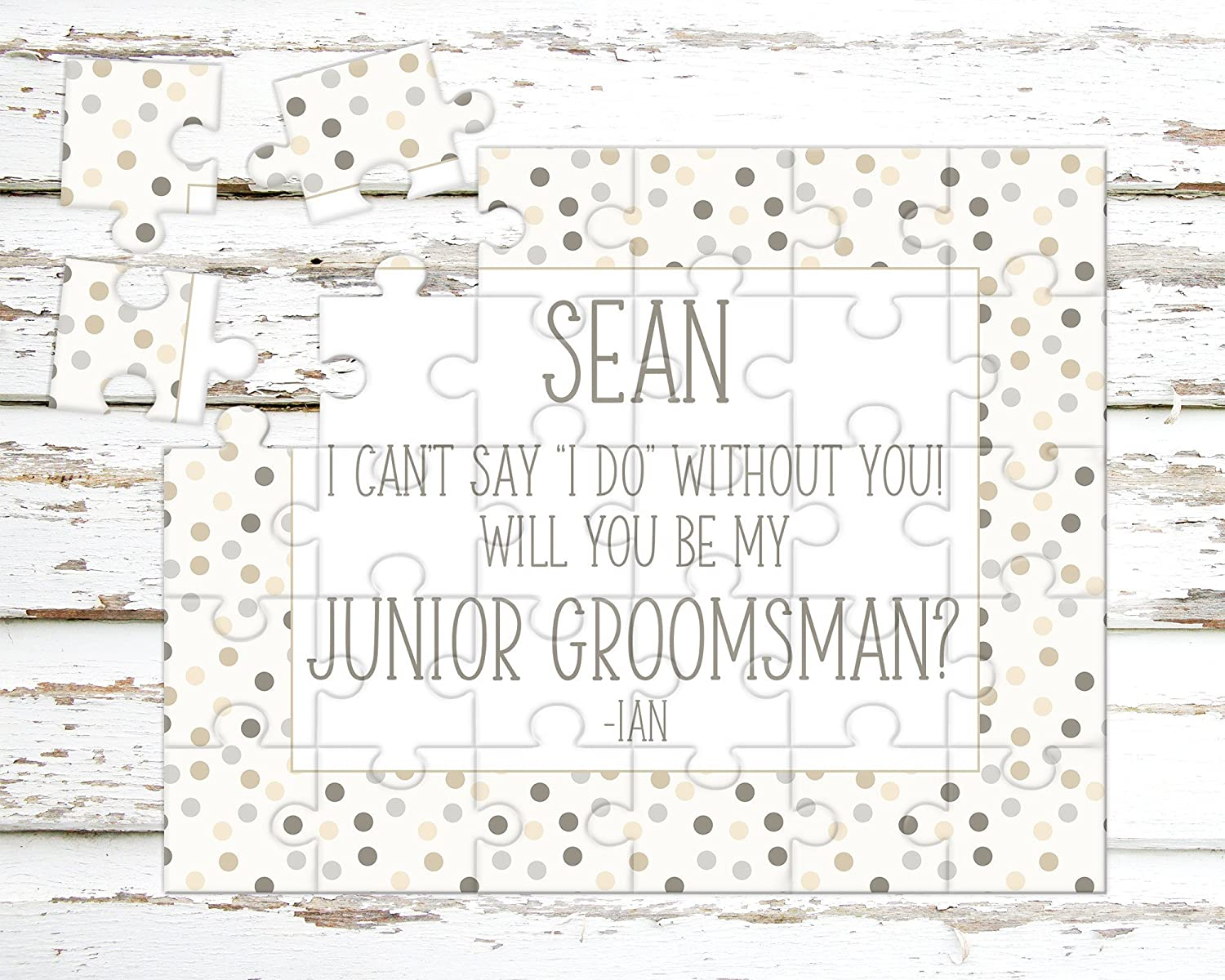 Personalized Junior Groomsman Puzzle - Puzzle Proposal - Asking Junior Groomsman - Wedding Announcement - P1197