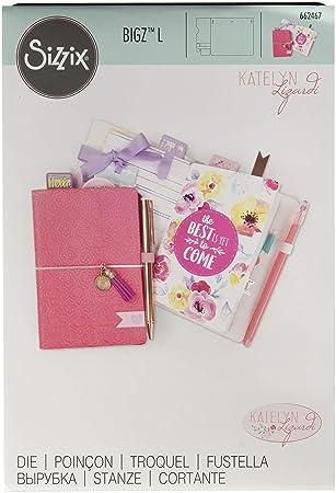 Sizzix 662467 Bigz L Die by Katelyn Lizardi Pocket Travelers Notebook, Multicolor