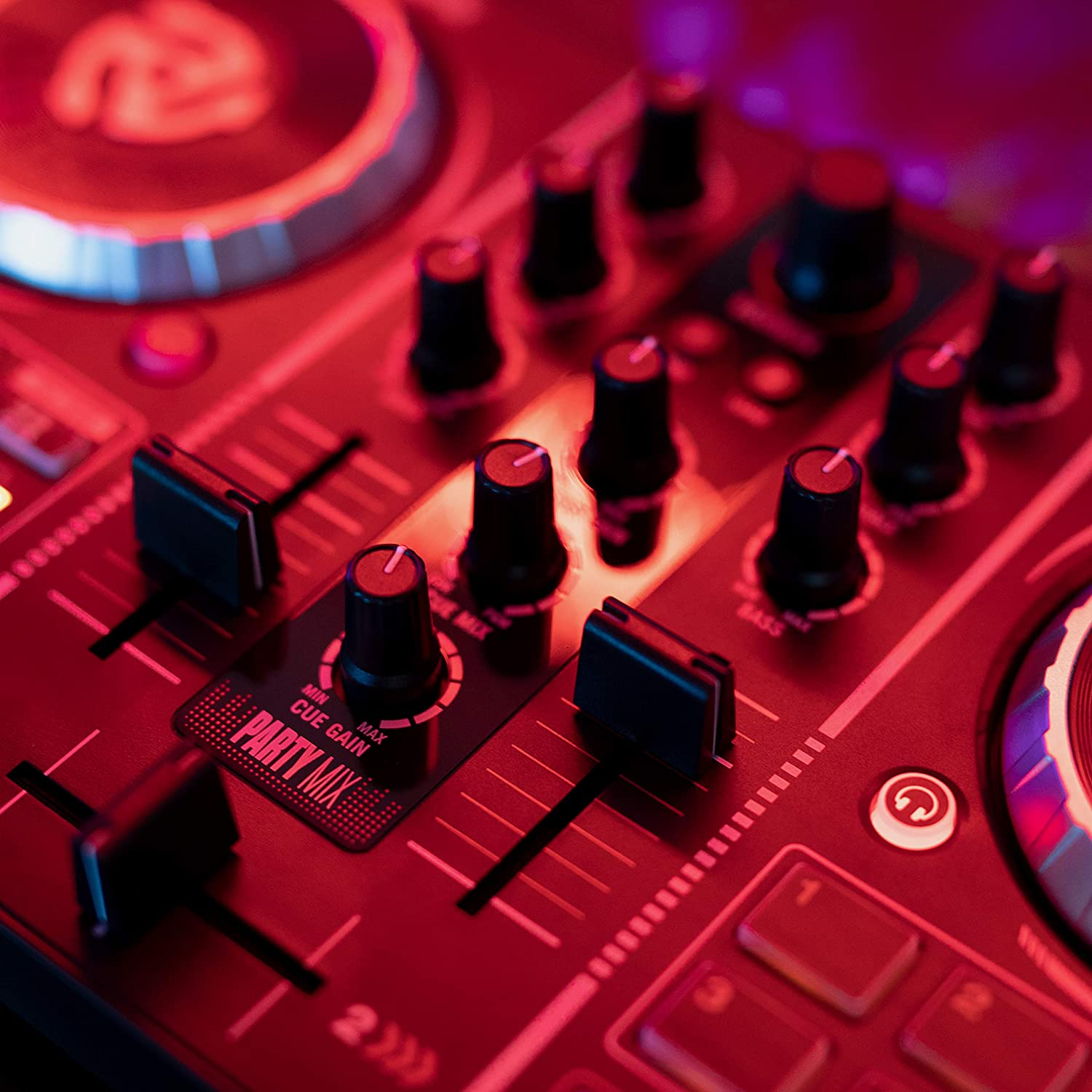 Headphone Output Numark Party Mix Party Lights Performance Pads and Crossfader // Mixer Complete DJ Controller Set for Serato DJ with 2 Decks
