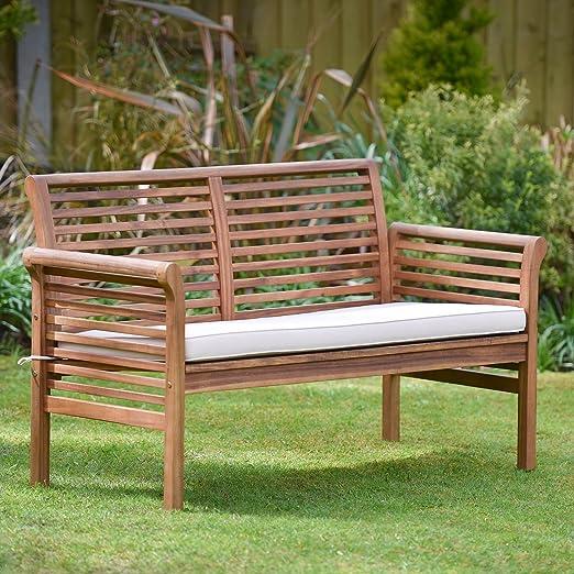Plant Theatre - Sofá de jardín de 2 plazas, de madera dura con cojín incluido. Excelente calidad: Amazon.es: Jardín