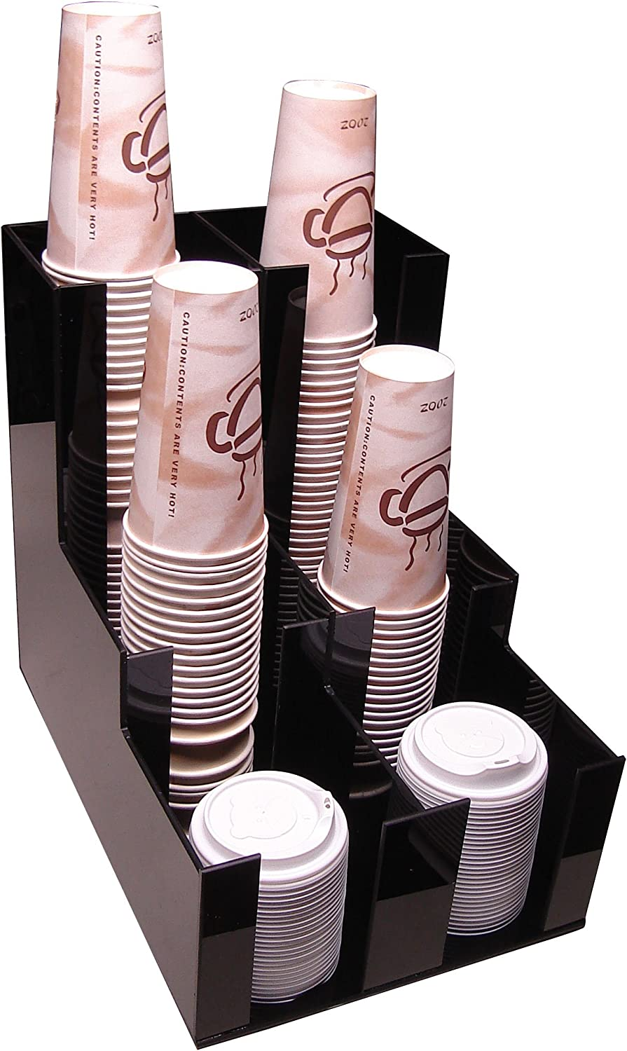 Cup Lid Holder Dispenser Coffee Cup Beverage Caddy Countertop Organizer 2wx3d Organize Your Coffee Counter with Style (1007) Heavy Duty