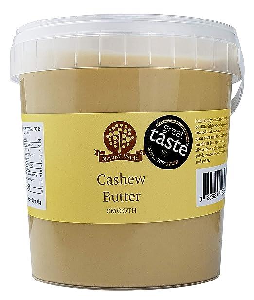 Nutural World - Mantequilla Crujiente de Anacardo (1kg) Galardonado al Mejor Sabor: Amazon.es: Alimentación y bebidas