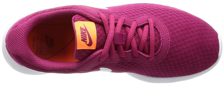 NIKE Women's Tanjun Running Shoes B01K0MEGOS 12 B(M) US|Sport Fuchsia White Tart