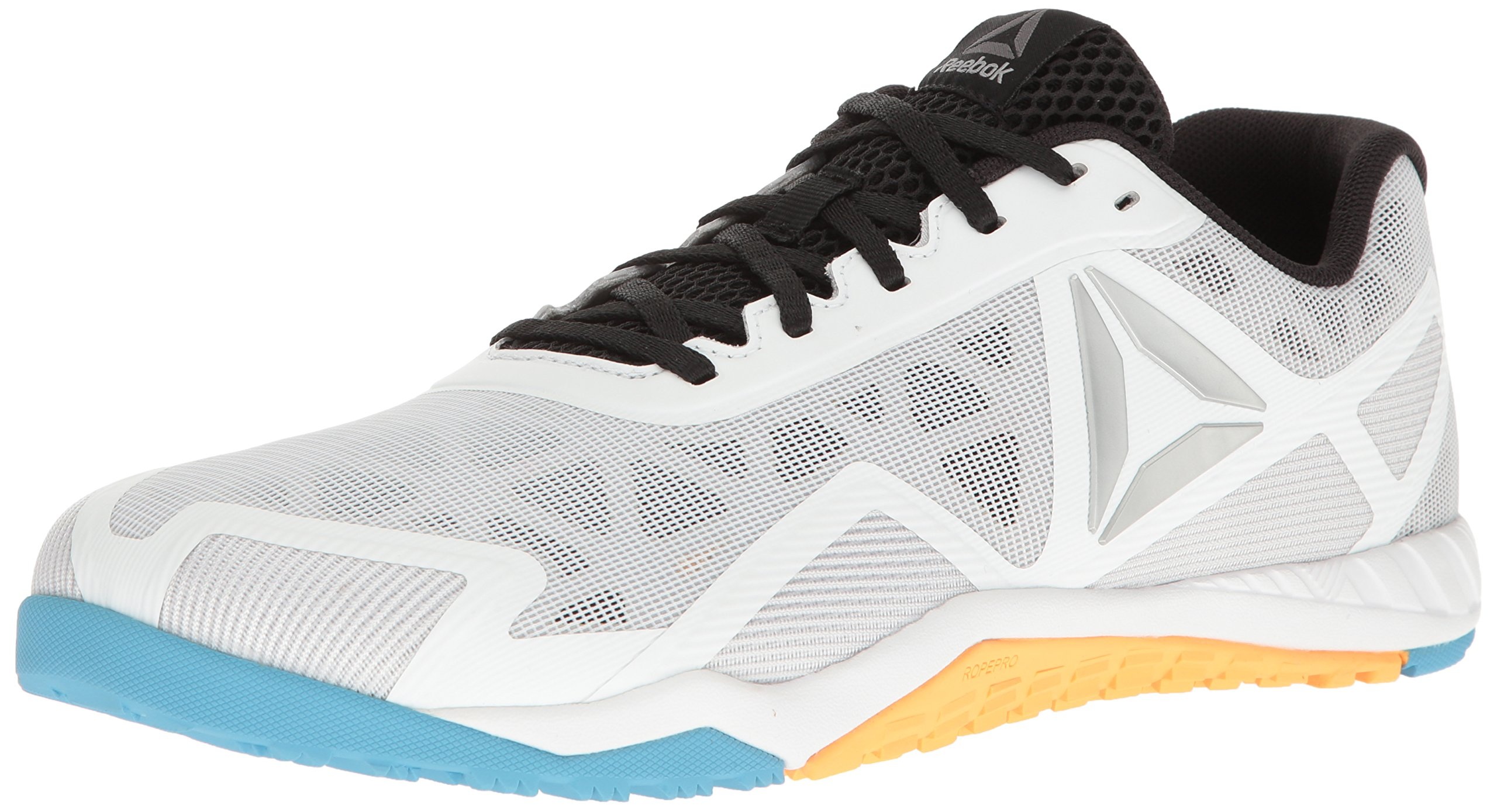 Reebok Men's ROS Workout TR 2.0 Cross-Trainer Shoe, White/Black/Blue Beam/Fir, 10.5 M US by Reebok