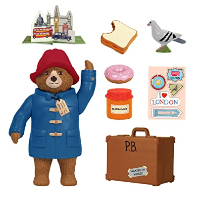 YOTTOY Paddington Bear Collection | Paddington Poseable Toy Figure Playset with Accessories, 8-Piece: Toys & Games
