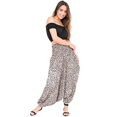 2 in 1 Printed Harem Pants and Bandeau Jumpsuit