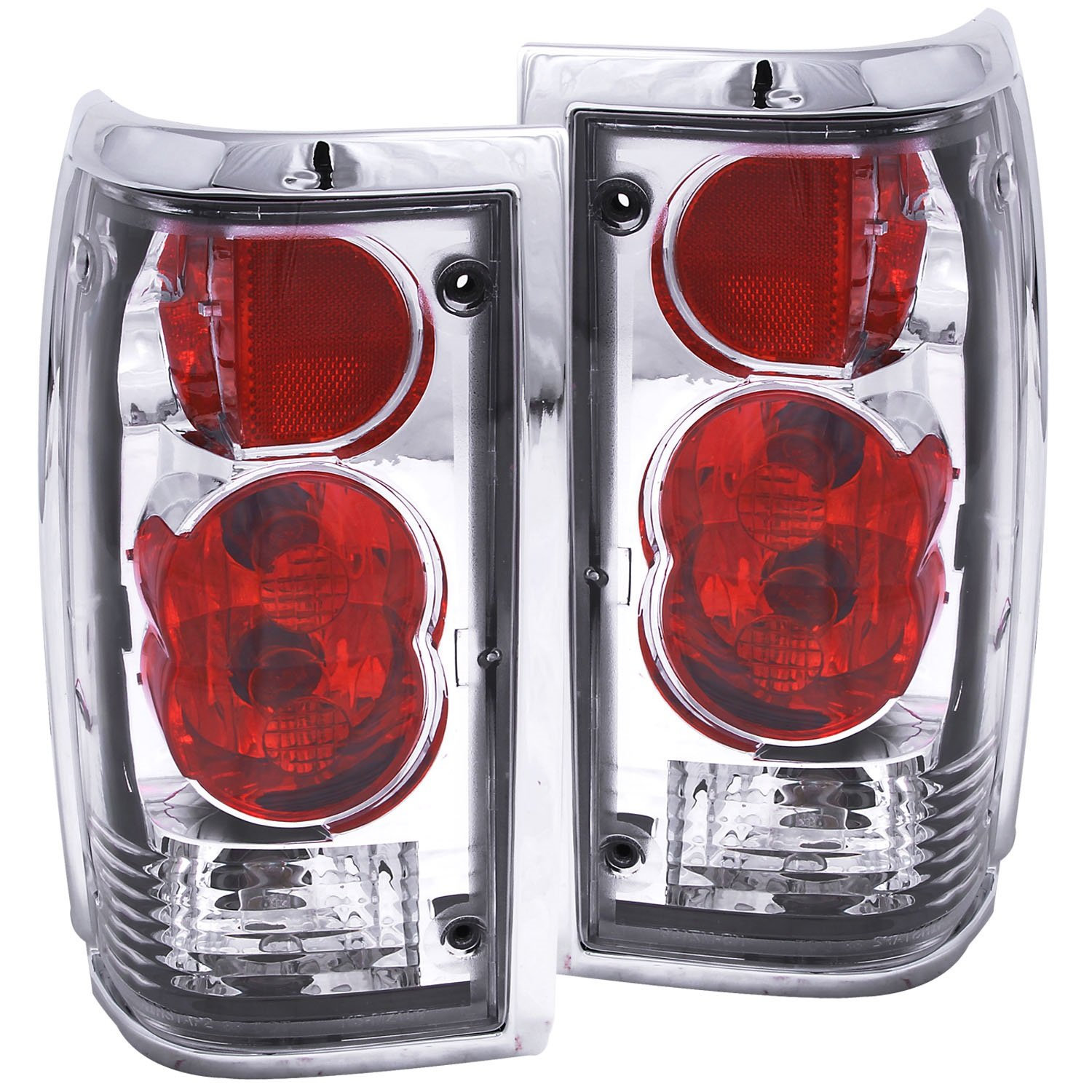Amazon.com: Anzo USA 211113 Mazda B2000 Black Tail Light Assembly - (Sold  in Pairs): Automotive
