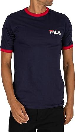 Fila de los Hombres Camiseta Rosco, Azul, S: Amazon.es: Ropa y accesorios