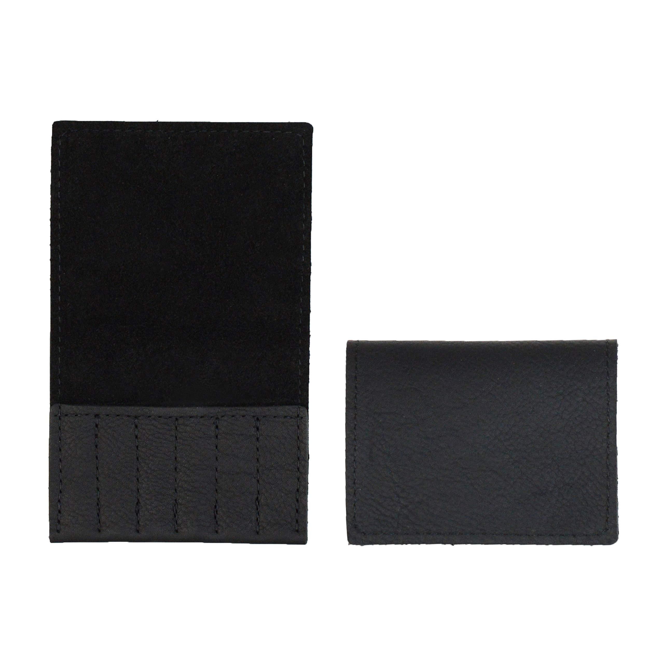 Handmade Leather Collar Stay Holder Gift for Him Collar Stay Case- Groomsmen Gift (Arizona Black Collar Stay Case)