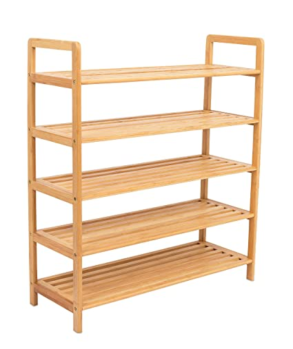 Awesome BirdRock Home Free Standing Bamboo Shoe Rack | 5 Tier | Wood | Closets And  Entryway