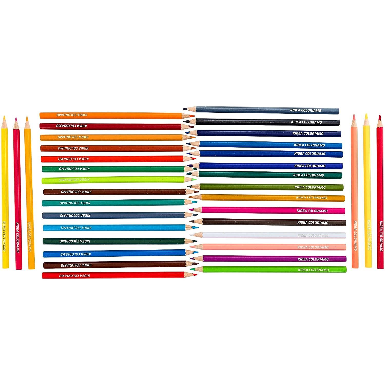 37946 36 Pezzi Kidea- Colori a Matita Multicolore