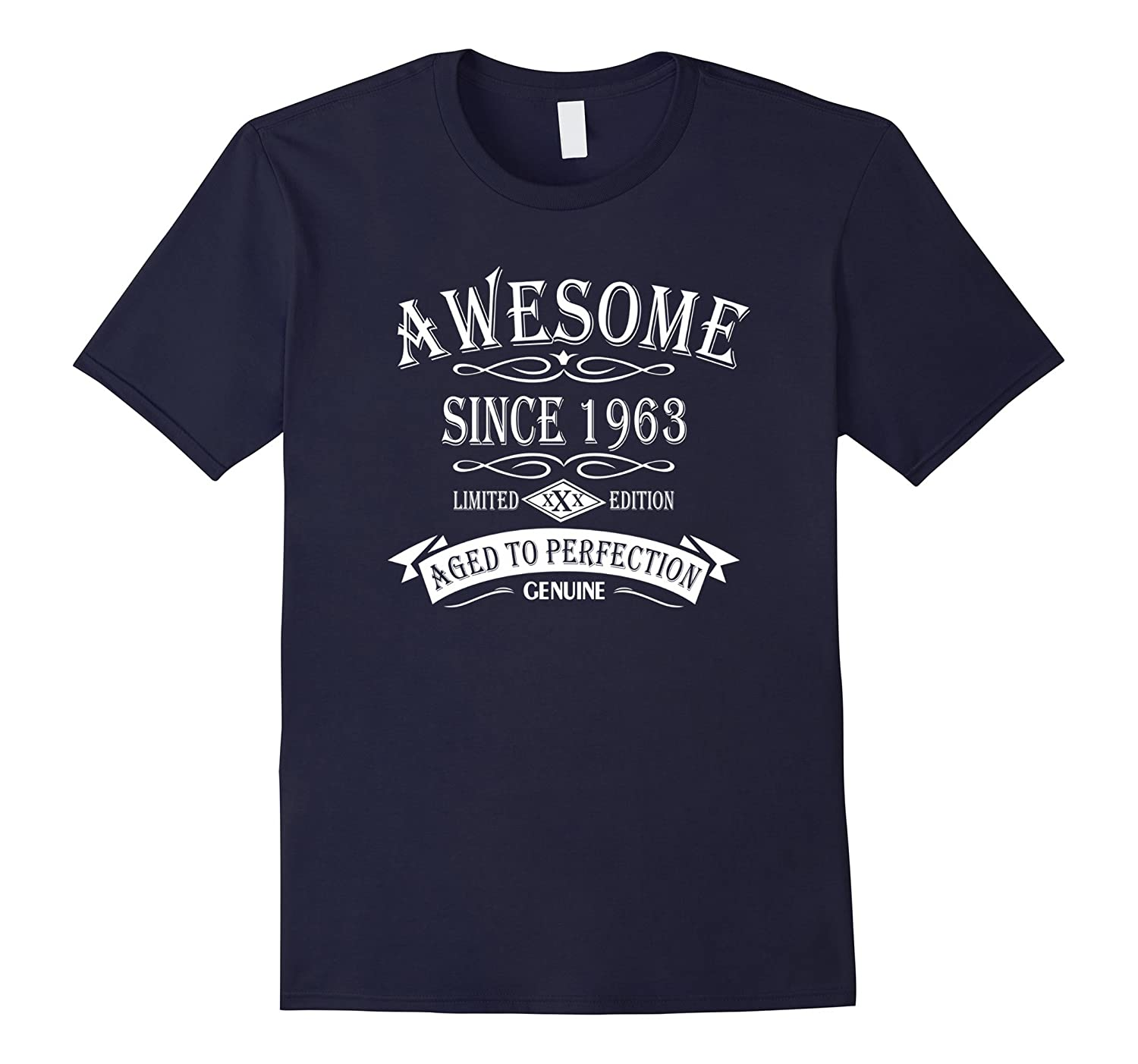 54th Birthday Gift Awesome Since 1963 T-Shirt-Vaci