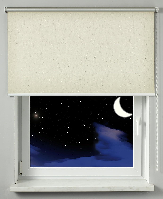 /Économie d/Énergie Kit de Montage Inclus Montage Mur//Plafond//Encadrement Grande R/éflexion de la Lumi/ère 52 x 180 cm GARDINIA Store Thermique avec Enrouleur Lat/éral Blanc LxH