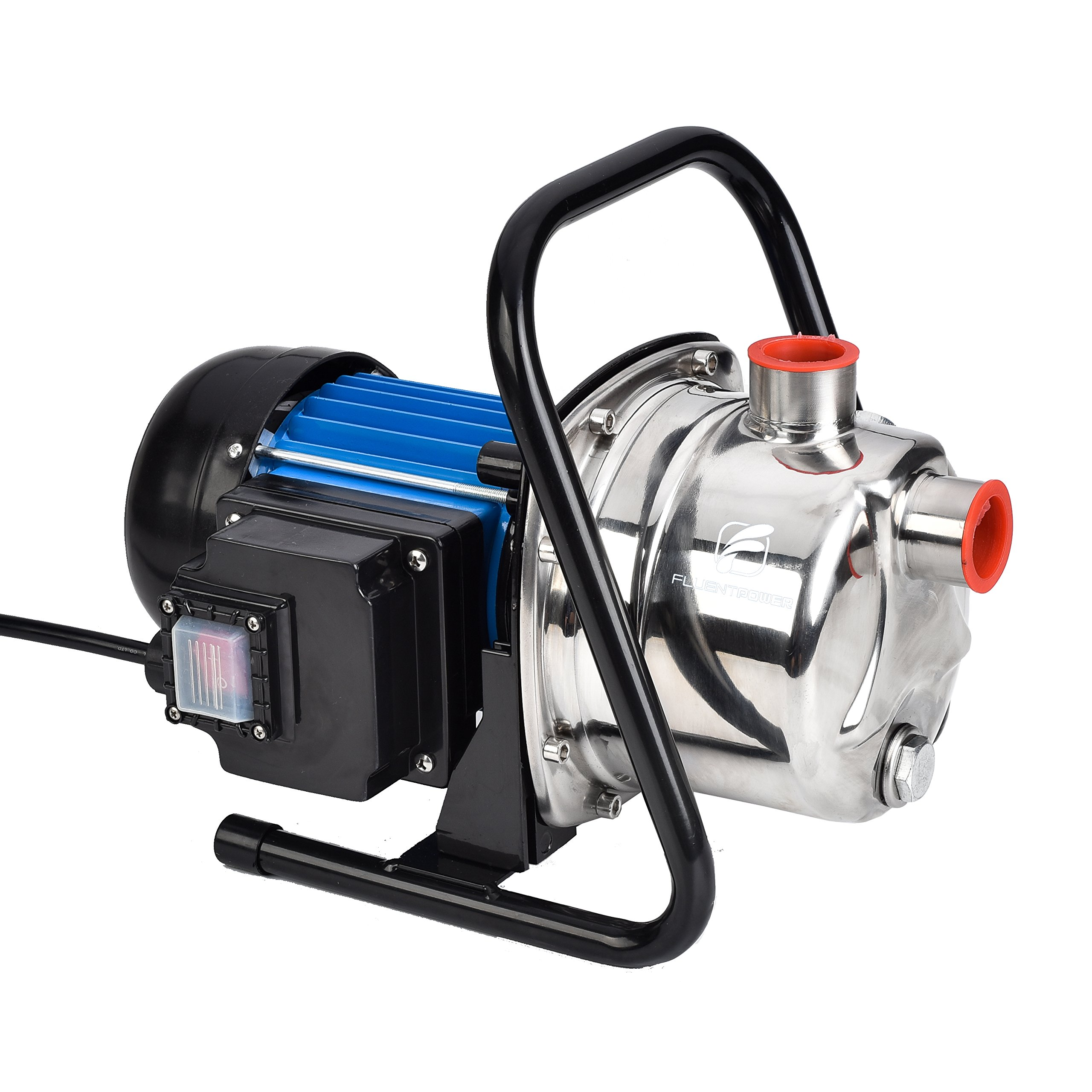 FLUENT POWER 1 HP Portable Stainless Steel Lawn Sprinkling Pump for Garden Irrigation and Pressure booster