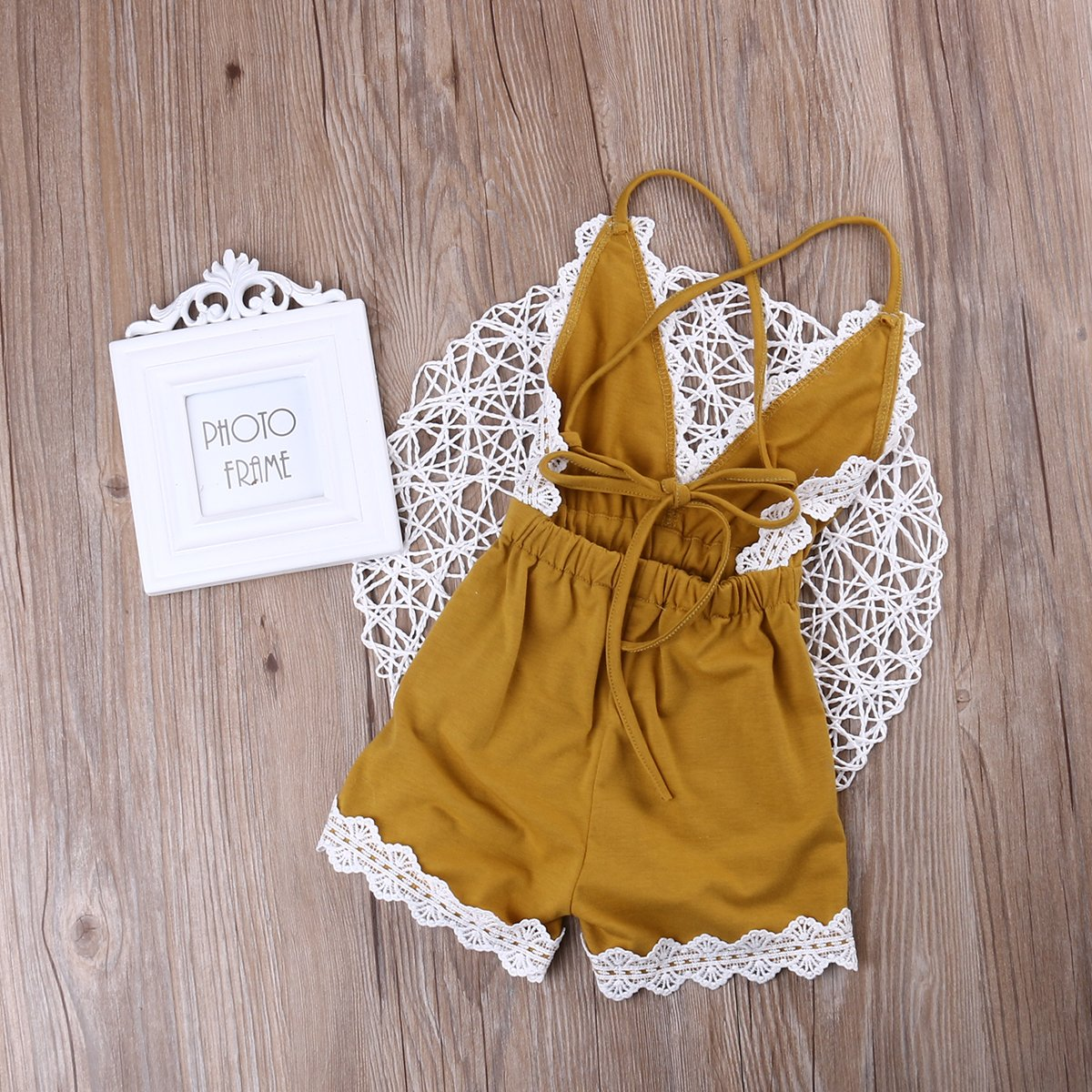 d5b2e216f4c3 Amazon.com  MA BABY Baby Girls Halter One-Pieces Romper Jumpsuit ...