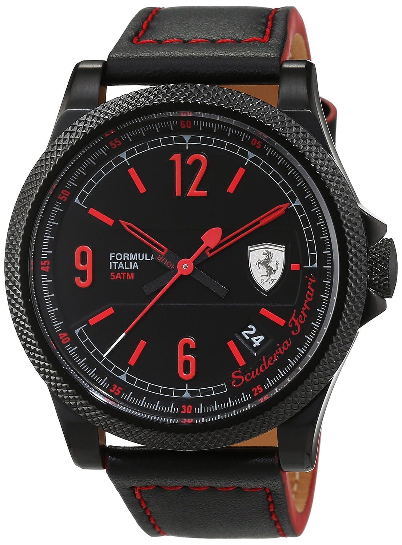 Scuderia Ferrari Orologi Herren-Armbanduhr Formula Italia S Analog Quarz Leder 0830271
