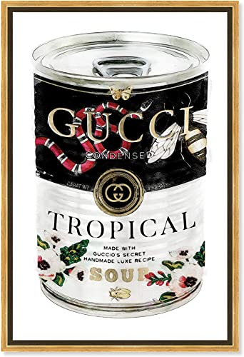 The Oliver Gal Artist Co. Fashion and Glam Framed Wall Art Canvas Prints 'Italian Luxe Soup Can Home D cor