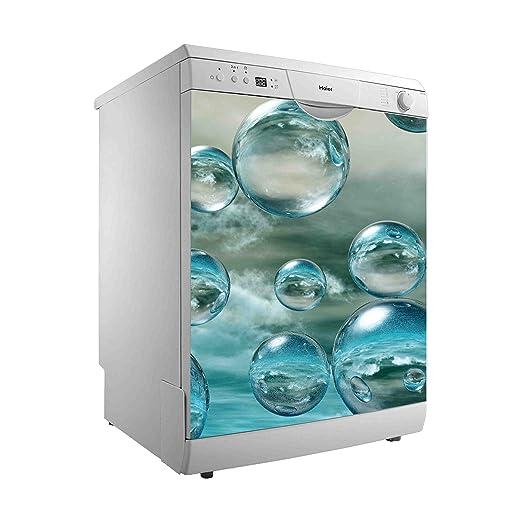 Vinilo para Lavavajillas Burbujas de agua | Varias Medidas 50x48cm | Adhesivo Resistente y de Fácil Aplicación | Pegatina Adhesiva Decorativa de ...