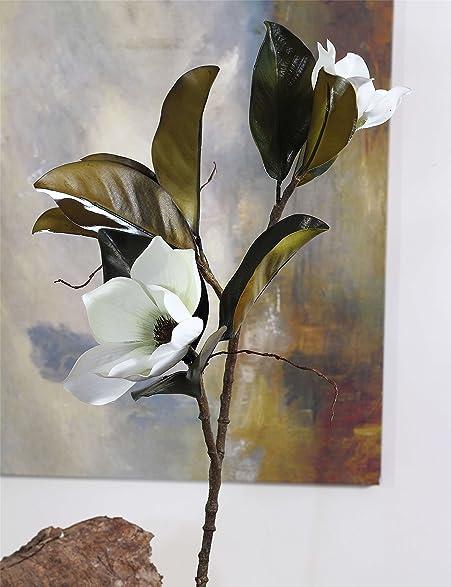 Amazon rinlong artificial magnolia silk flowers spray in 2 rinlong artificial magnolia silk flowers spray in 2 colorssilk flower arrangementspack of mightylinksfo