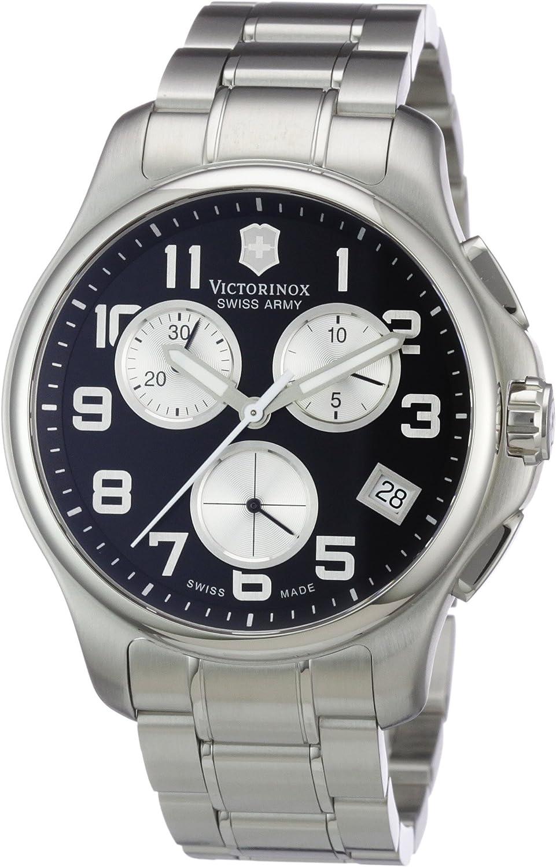 Victorinox Swiss Army Men s 241455 Officers Chrono Black Dial Watch