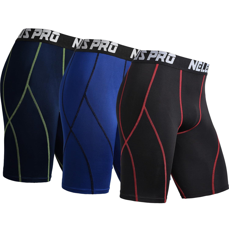 Neleus Men's 3 Pack Sport Compression Shorts DK6012-US