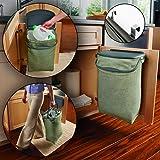 Rubbermaid Hidden Recycler Over-The-Door Under Cabinet Recycle Waste Bin Bag