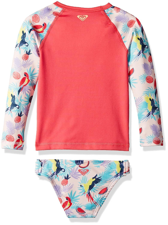 c9e7b9fdf98c4 Amazon.com  Roxy Girls  Vintage Tropical Long Sleeve Rashguard Set  Clothing