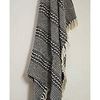 Home Touch Luxury Cotton Blanket Throw AC Comforter Mat Sofa Cover Picnic or Yoga/Mandir aasan (125cm x 150cm)