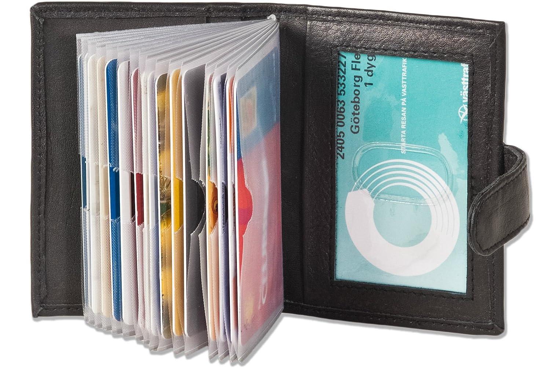 Di alta qualità ed elegante custodia per carte di credito e biglietti da visita in pelle XXL in pelle disponibile in diversi colori