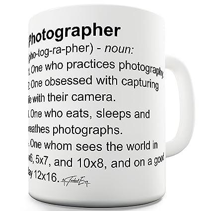 TWISTED ENVY Significado de fotógrafo taza de definición de la novedad
