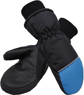 07727eece Denovit Kid's Thinsulate Lined Waterproof Ski Snowboard Winter Mitten Gloves