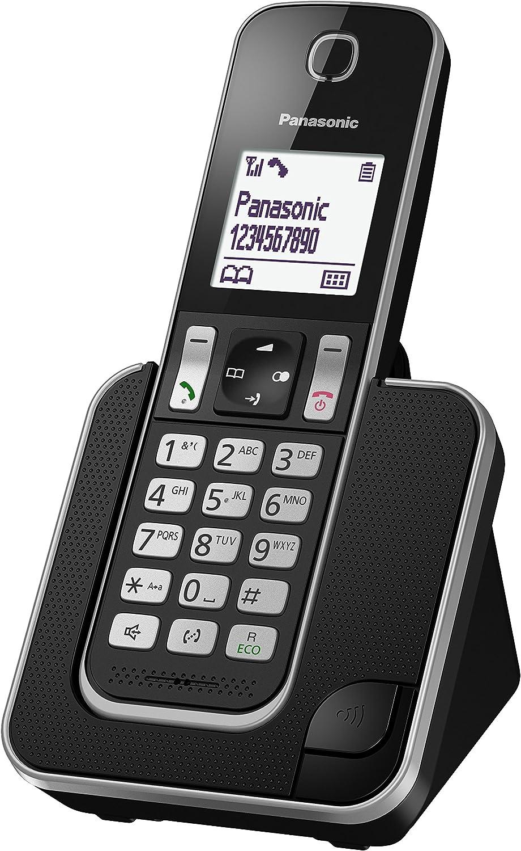 Panasonic KX-TGD310 - Teléfono fijo inalámbrico(LCD, identificador de llamadas, agenda de 120 números, bloqueo de llamada, modo ECO, reducción de ruido), Negro, TGD31 Solo: Panasonic: Amazon.es: Electrónica