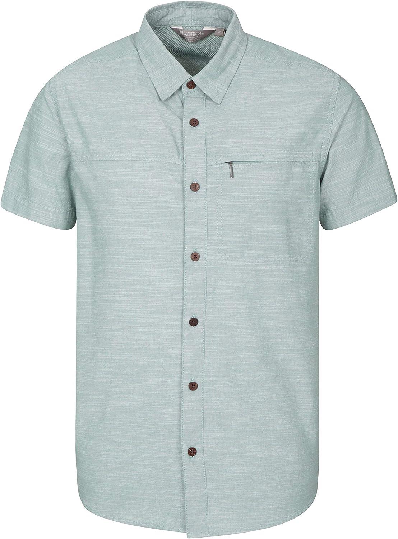 100/% Cotton Summer Shirt Mountain Warehouse Coconut Mens Shirt